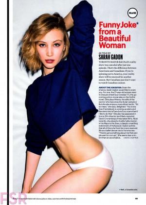 Sarah Gadon - Esquire Magazine (October 2014)