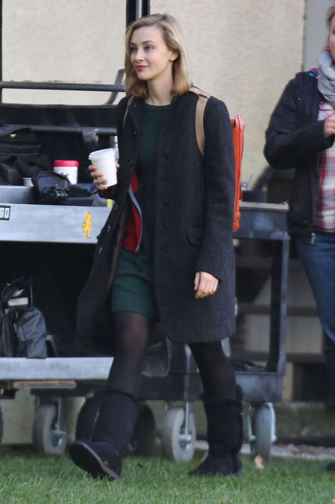 "Sarah Gadon - Filming ""The 9th Life of Louis Drax"" in Vancouver"