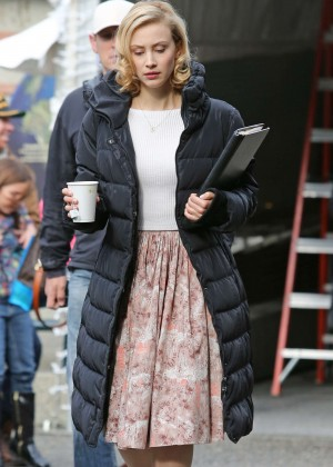 "Sarah Gadon - Filming ""The 9th Life of Louis Drax"" Set in Vancouver"