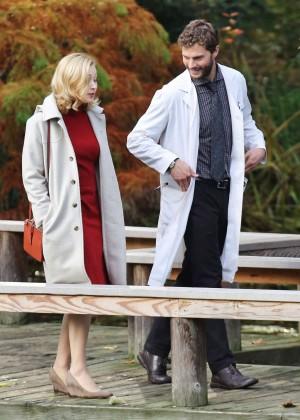 Sarah Gadon Filming 'The 9th Life of Louis Drax' at VanDusen Botanical Garden