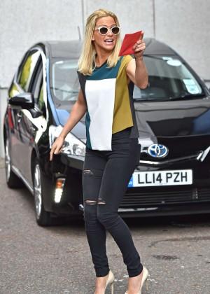 Sarah Harding in Tight Jeans - Seen leaving the London Studios