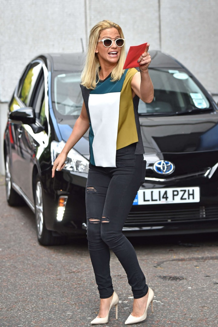 Sarah Harding in Tight Jeans - Seen leaving the London Studios