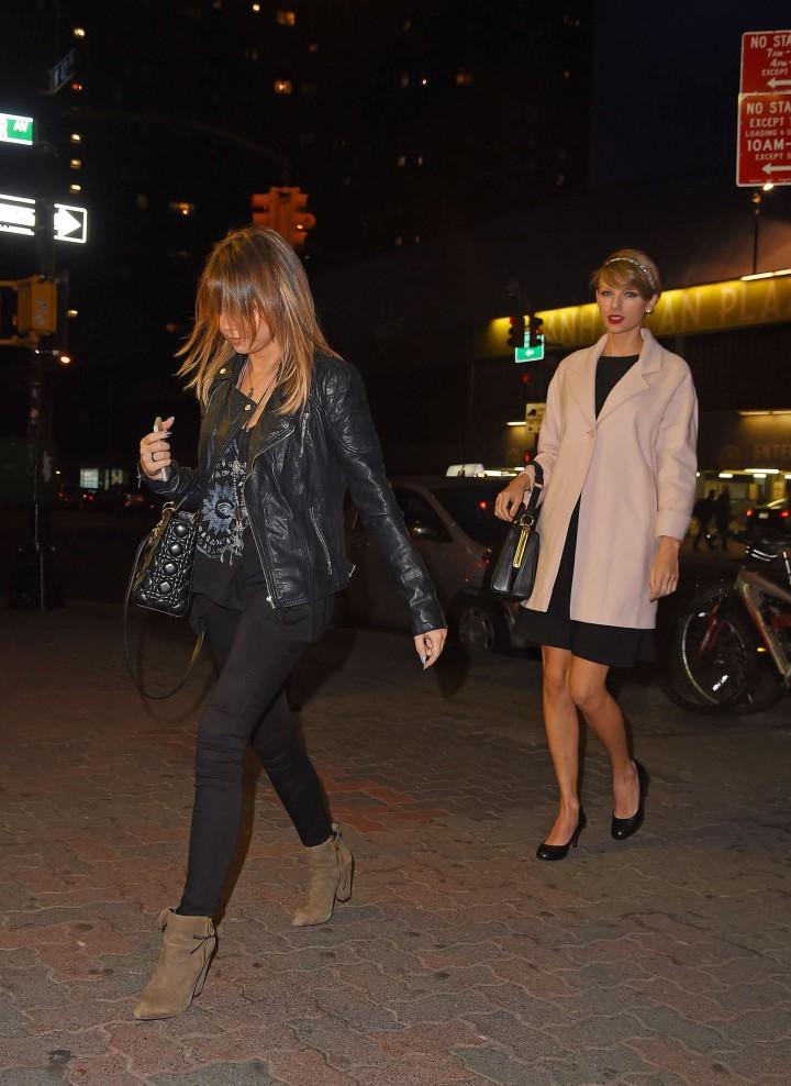 Koi New York | Sarah Hyland And Taylor Swift Leaving Koi Restaurant In New York