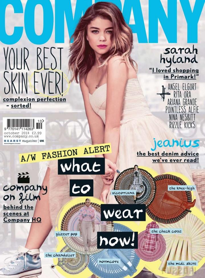 Sarah Hyland - Company UK Magazine Cover (October 2014)
