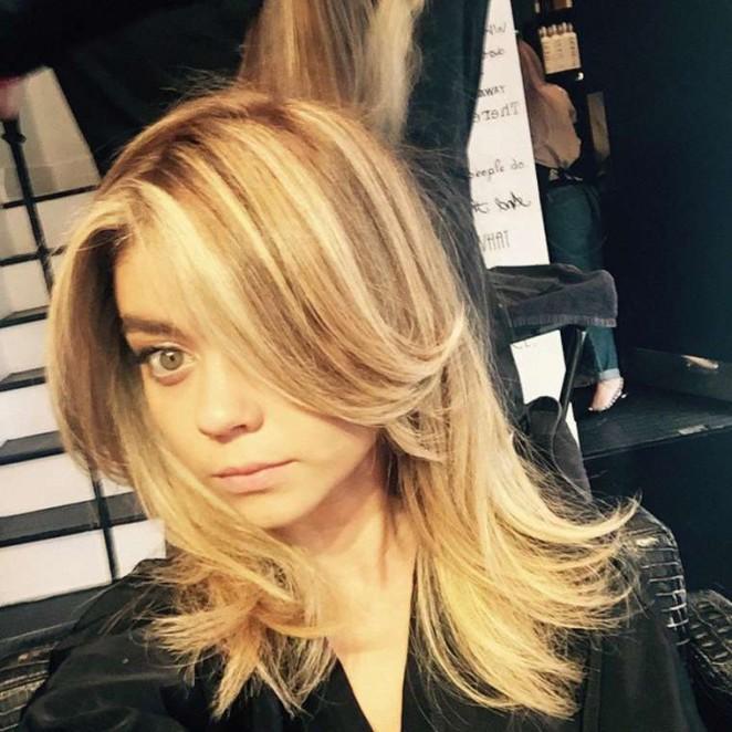 Sarah Hyland Debuts Blonde Hair - Instagram