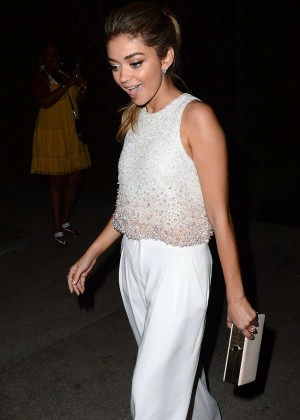 Sarah Hyland - Leaves William Morris Agency Party in Los Angeles