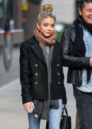 Sarah Hyland in Jeans Leaving ASPCA Animal Hospital in NYC