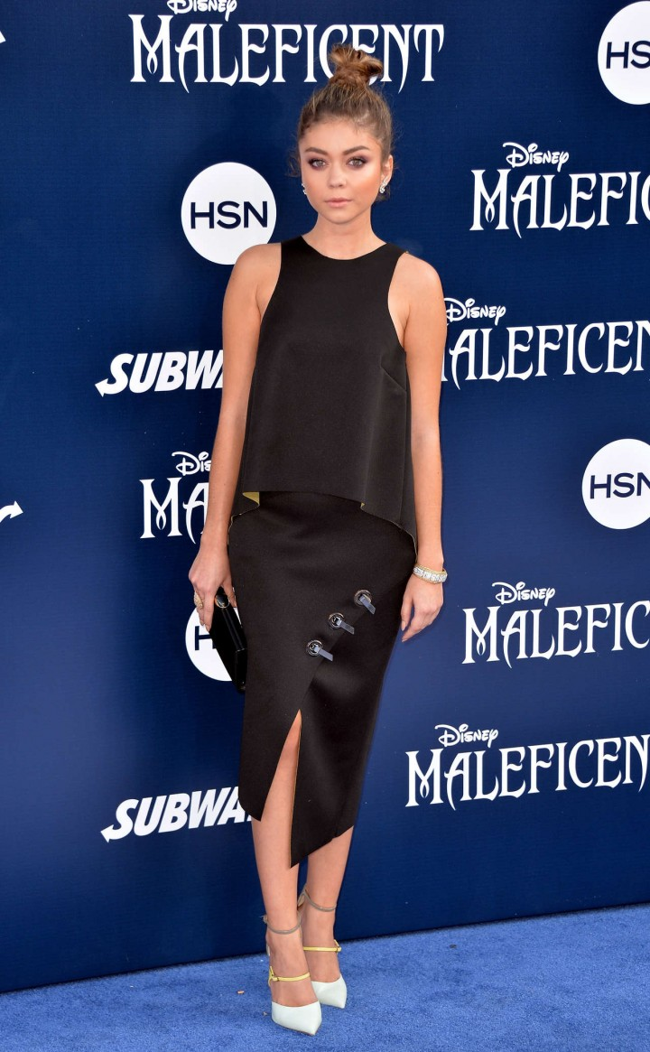 Sarah Hyland in black dress -01