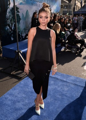 Sarah Hyland in black dress -05