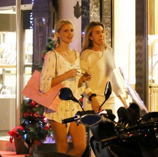 Sarah Murdoch in Mini Dress -08