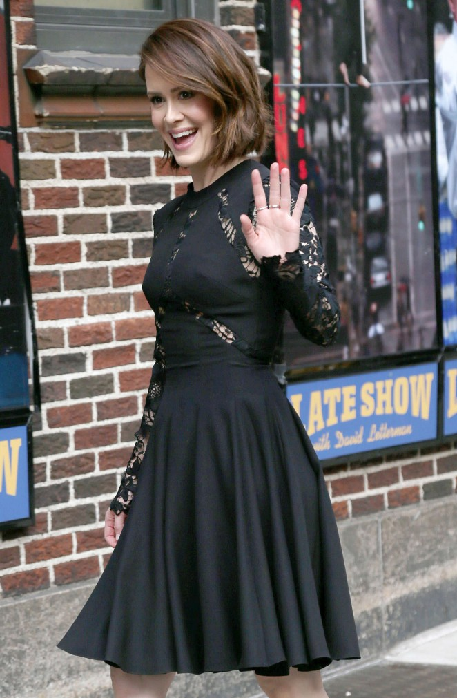 """Sarah Paulson Arriving at """"Late Show With David Letterman"""" in New York"""