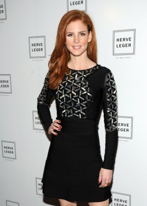 Sarah Rafferty: 2014 Fashion Show in NYC - Herve Leger -02