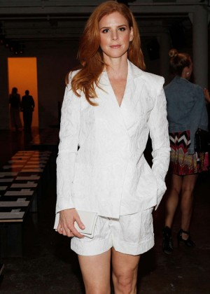 Sarah Rafferty - Houghton Fashion Show in NYC