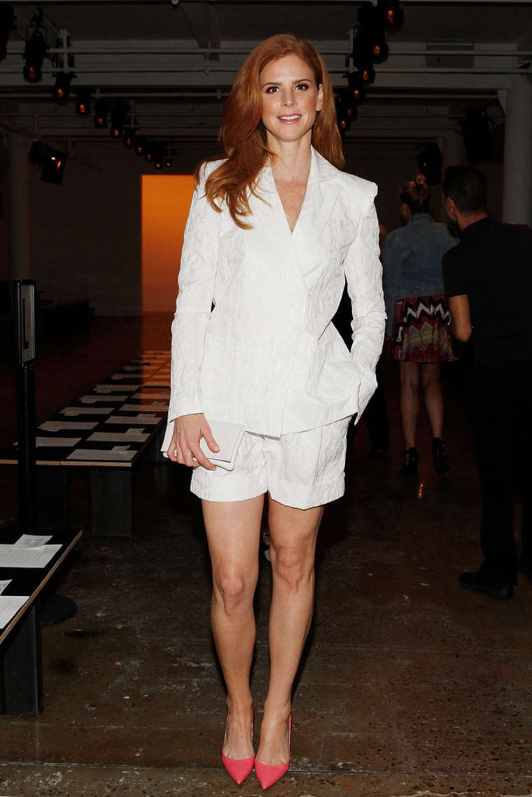 Sarah Rafferty Houghton Ny Fashion Show 2014 02 Gotceleb