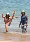 Sarah Shahi in bikini at the beach in Hawaii (HQ)-08