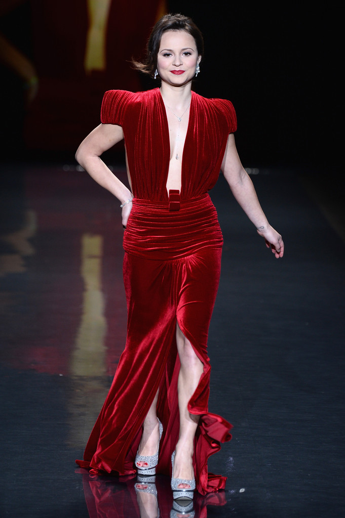Fashion Show Dresses 2014 Sasha Cohen Red Dress