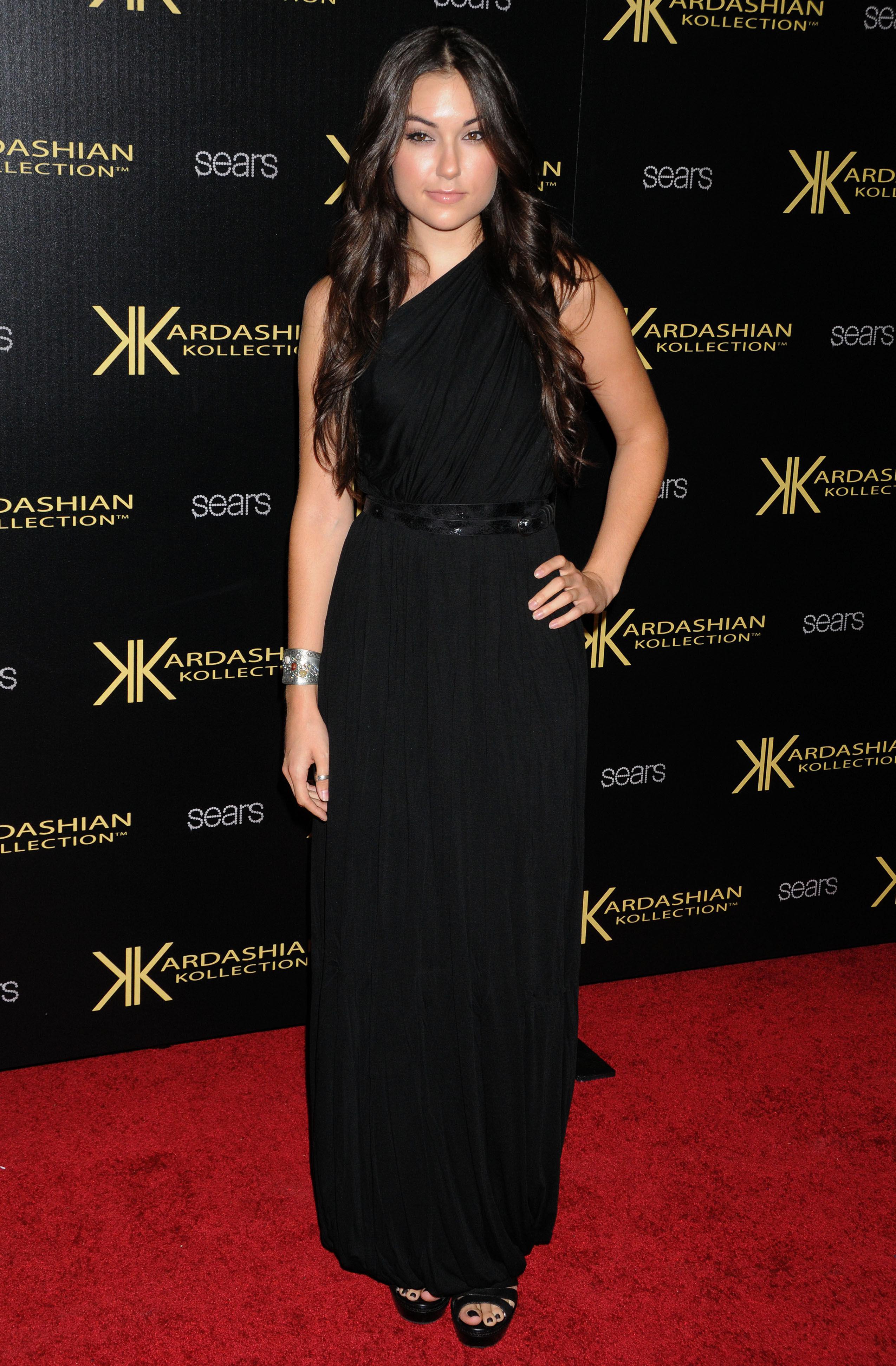 Sasha Grey Wear Black Long Dress At Kardashian Kollection