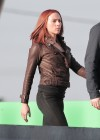 Scarlett Johansson - Captain America 2 Set photos in LA -13