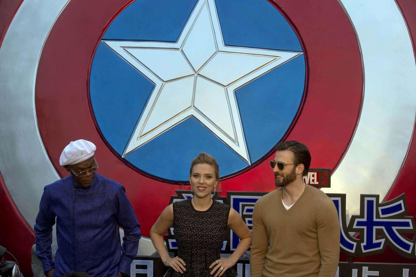 Scarlett Johansson 2014 : Scarlett Johansson: Captain America: The Winter Soldier premiere in Beijing -05