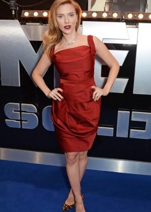 Scarlett Johansson in Red Dress - Premiere Captain America: The Winter Soldier-10