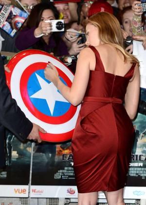 Scarlett Johansson in Red Dress - Premiere Captain America: The Winter Soldier-11