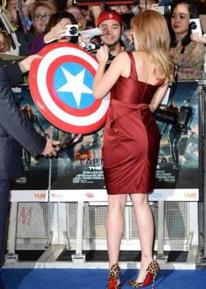 Scarlett Johansson in Red Dress - Premiere Captain America: The Winter Soldier-13