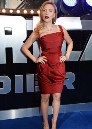 Scarlett Johansson in Red Dress - Premiere Captain America: The Winter Soldier-14