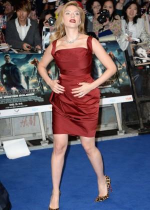 Scarlett Johansson in Red Dress - Premiere Captain America: The Winter Soldier-16