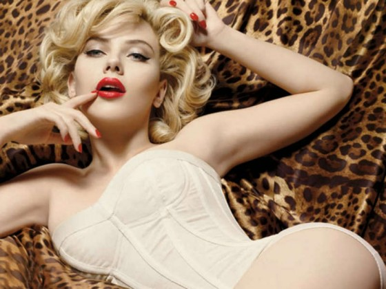 Scarlett Johansson cleavage in sexy shoot for Dolce and Gabana
