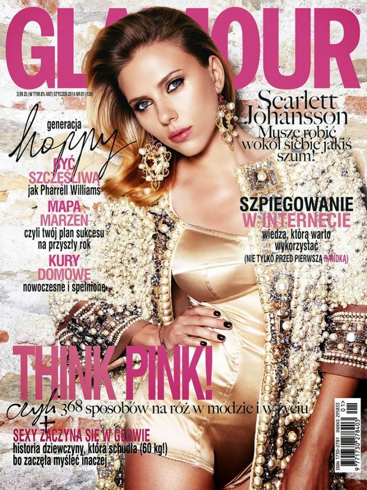 Scarlett Johansson: Glamour Poland Cover -01