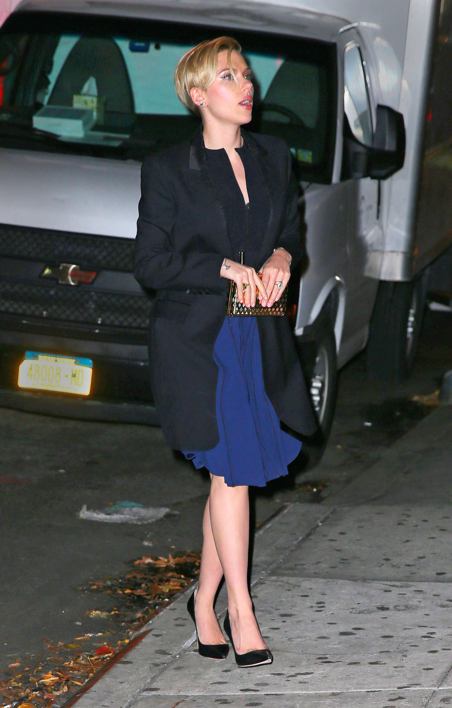 Scarlett Johansson 2014 : Scarlett Johansson in Blue Dress -02