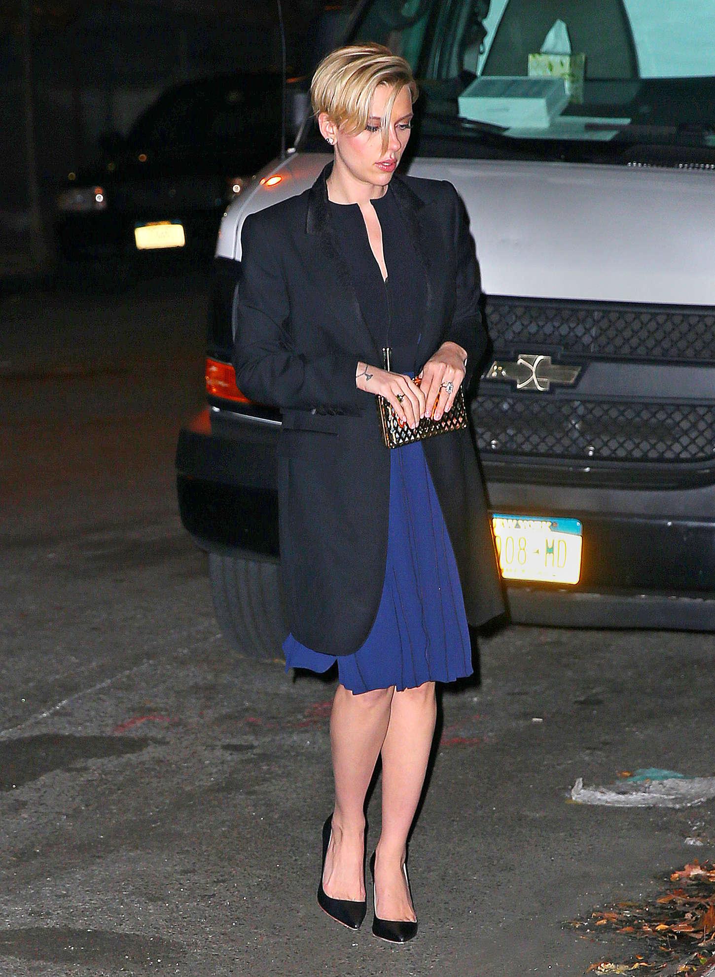 Scarlett Johansson 2014 : Scarlett Johansson in Blue Dress -04
