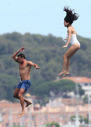 Selena Gomez and Cara Delevingne Bikini: in St Tropez 2014 -11