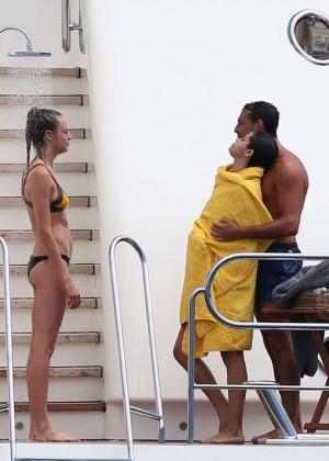 Selena Gomez and Cara Delevingne Bikini: in St Tropez 2014 -15