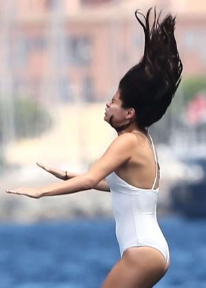 Selena Gomez and Cara Delevingne Bikini: in St Tropez 2014 -17