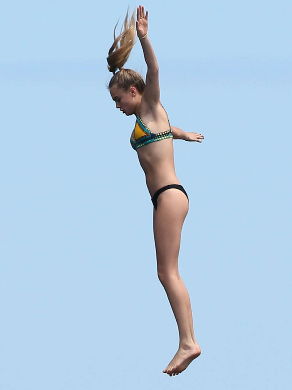 Selena Gomez And Cara Delevingne Bikini In St Tropez 2014