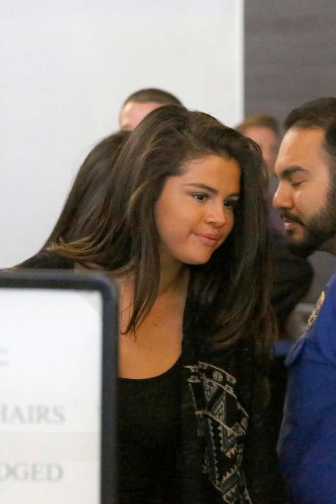 Selena Gomez at LAX -26