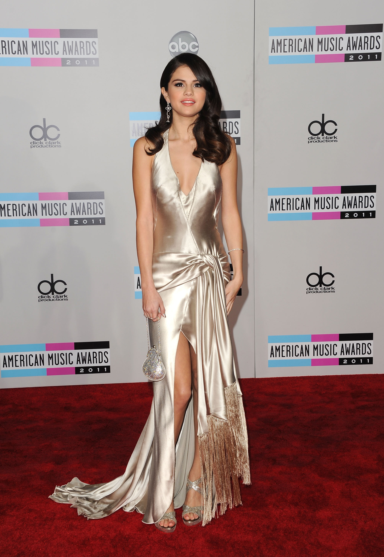 Selena Gomez Cleavage Candids At 2011 American Music