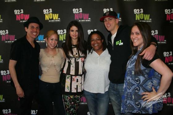 Selena Gomez at 92 3 Now FM