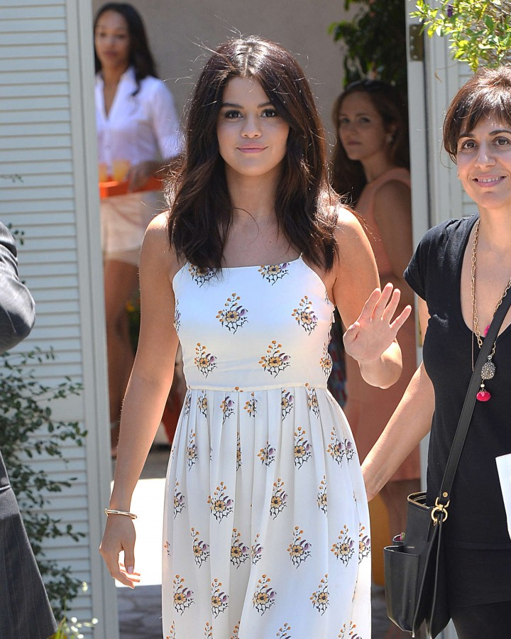 Selena Gomez at a private party in Brentwood