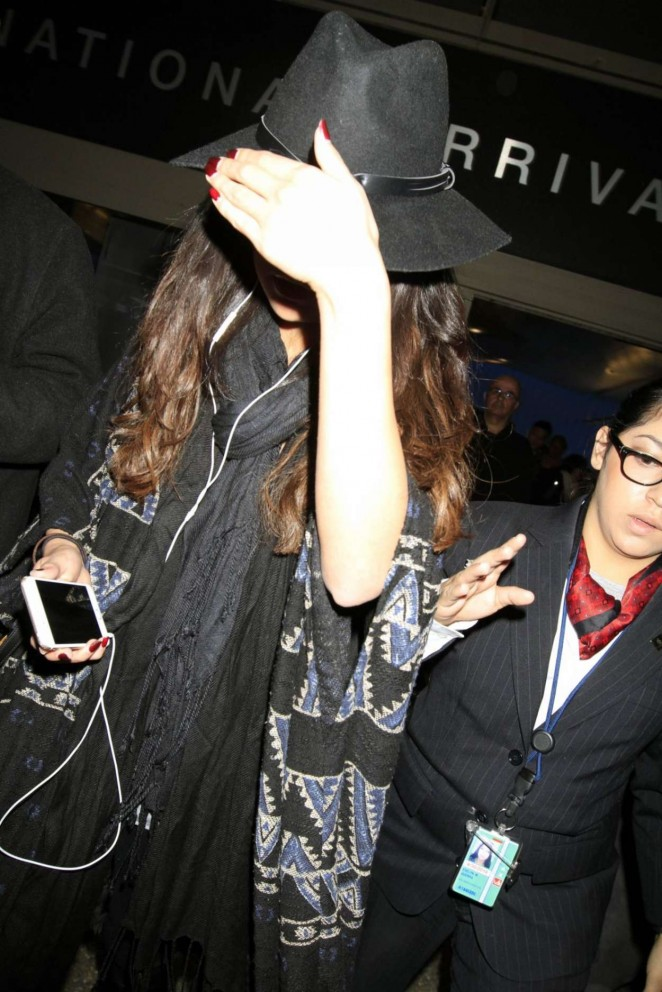 Selena Gomez at LAX Airport in Los Angeles