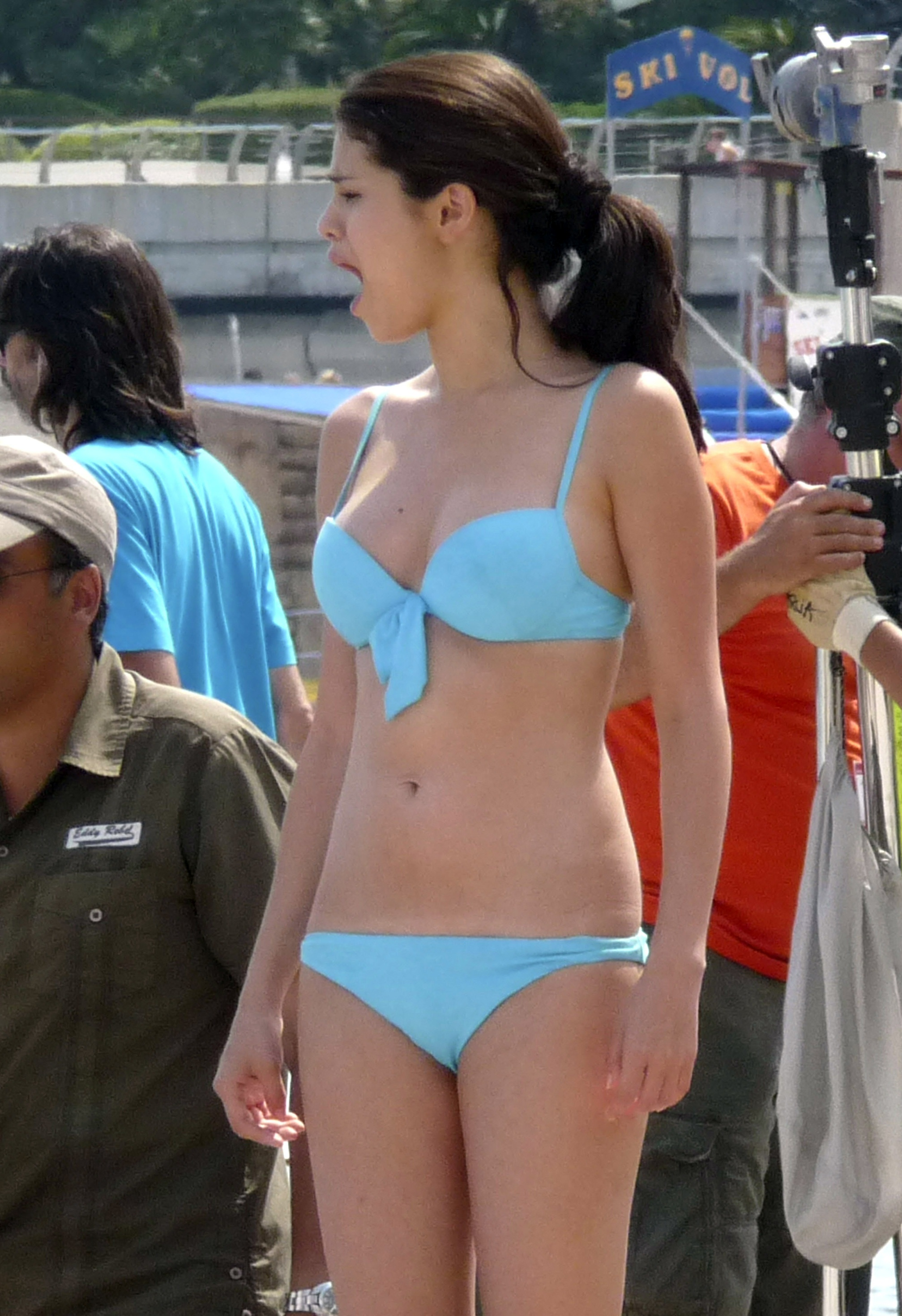 Selena Gomez – Bikini Candids on the set of Monte Carlo in ...