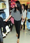 Selena Gomez in a skinny black pants at Dream Out Loud Clothes Line at Kmart