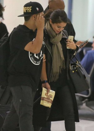 Selena Gomez in Tighs at LAX Airport in LA