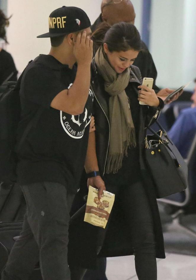Selena Gomez in Tighs at LAX Airport in LA