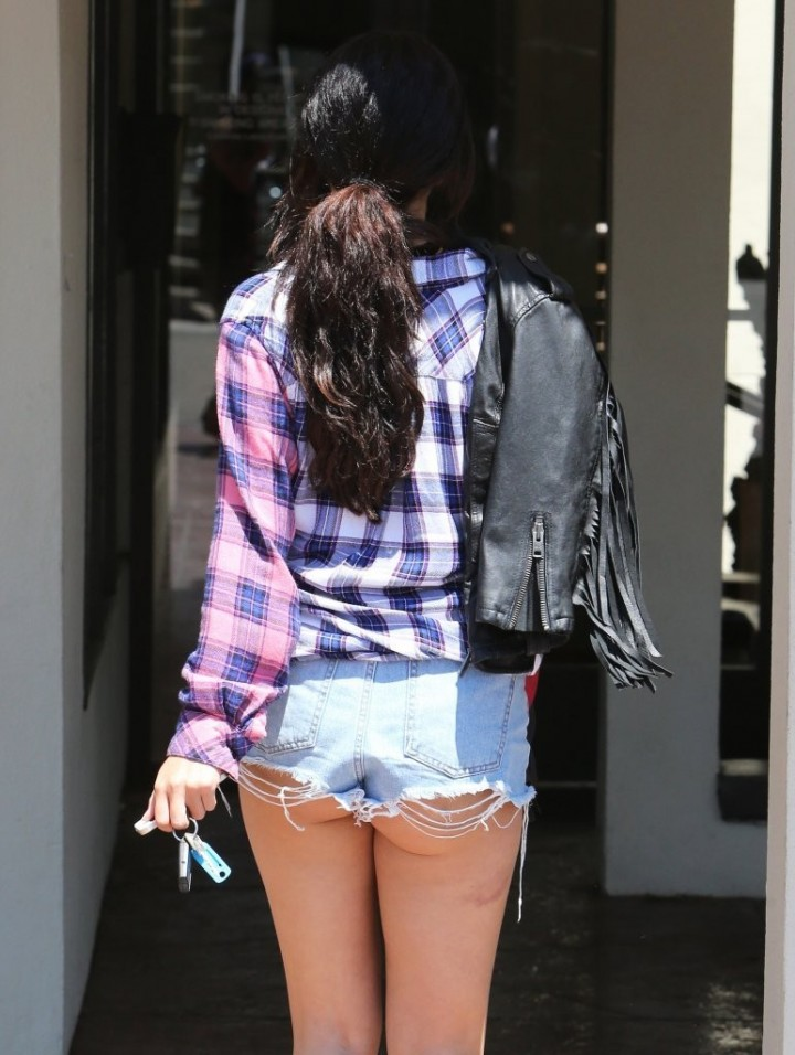 Selena Gomez hot in cutoff shorts in LA
