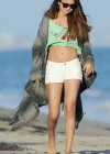 Selena Gomez - In Deim Shorts at Ashley Tisdale's beach party Malibu