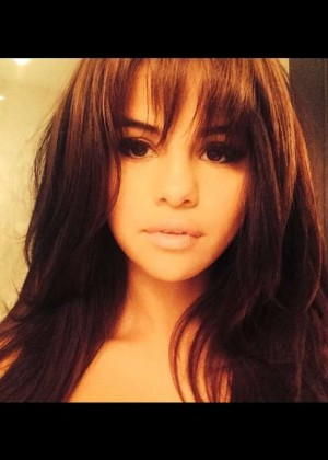 Selena Gomez Shares New Bangs Hairstyle - Instagram