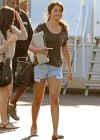 Selena Gomez shows her hot legs in denim shorts on the set of Parental Guidance