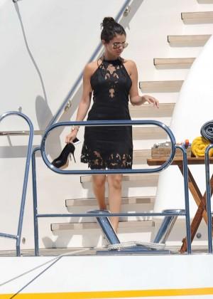 Selena Gomez Photos: Black Mini Dress -11